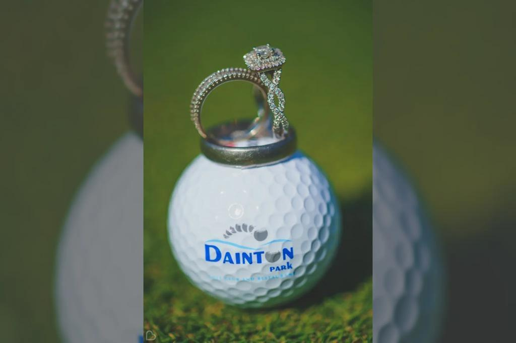 DP Golf ball and wedding rings